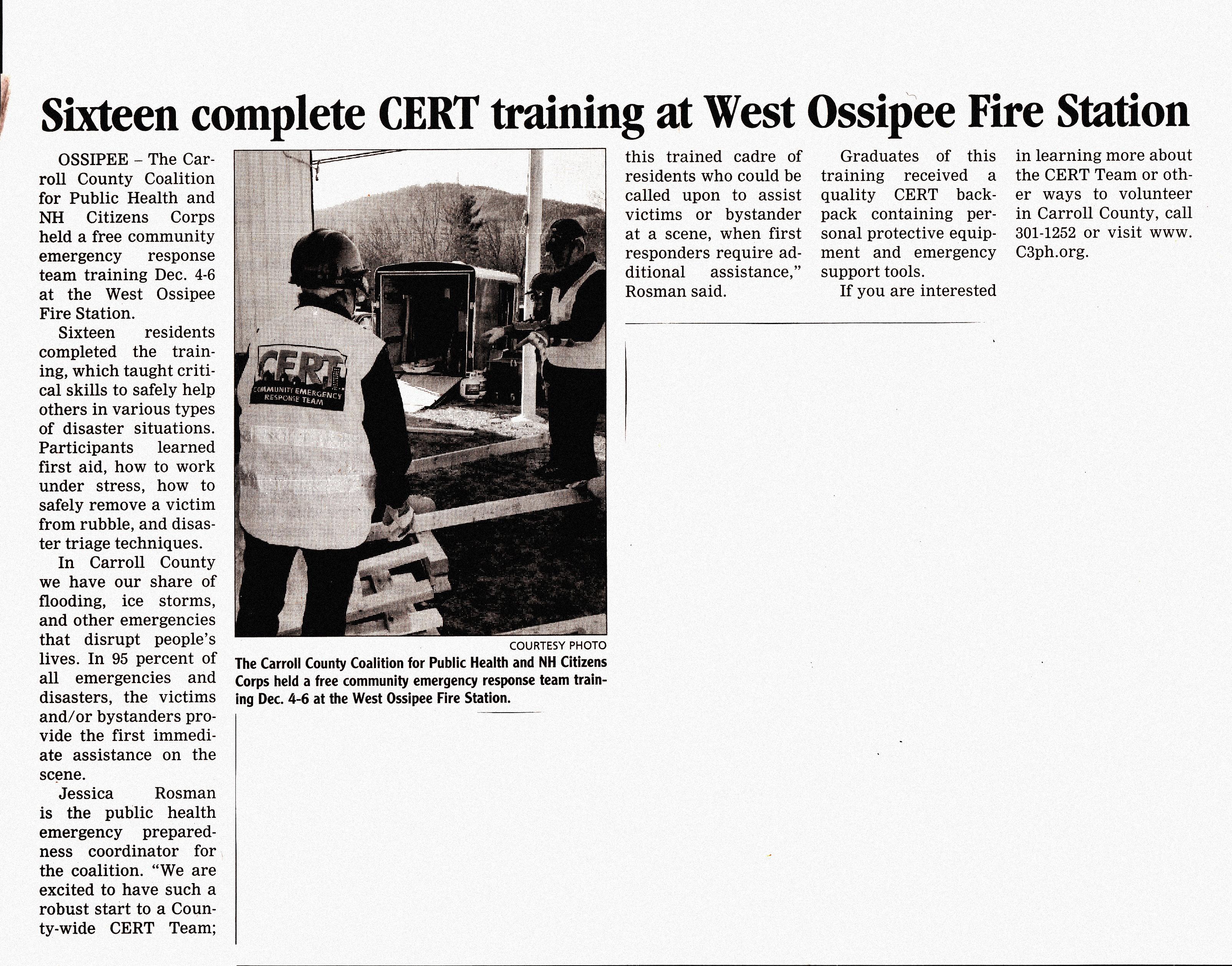 PRECINCT DOCUMENTS - WEST OSSIPEE FIRE DEPARTMENT/ PRECINCT